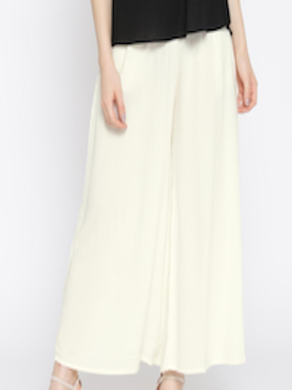 585e575f0b4674 Buy Lux Lyra Off White Palazzos - Palazzos for Women 1836542 | Myntra