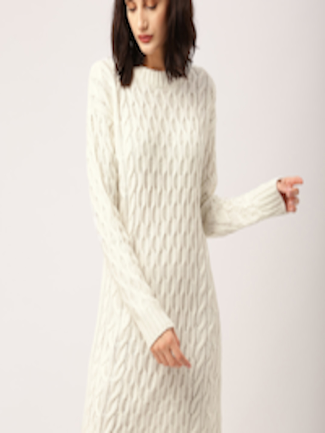 ad73e0a8a07d Buy All About You From Deepika Padukone Women White Patterned Sweater Dress  - Dresses for Women 1853858