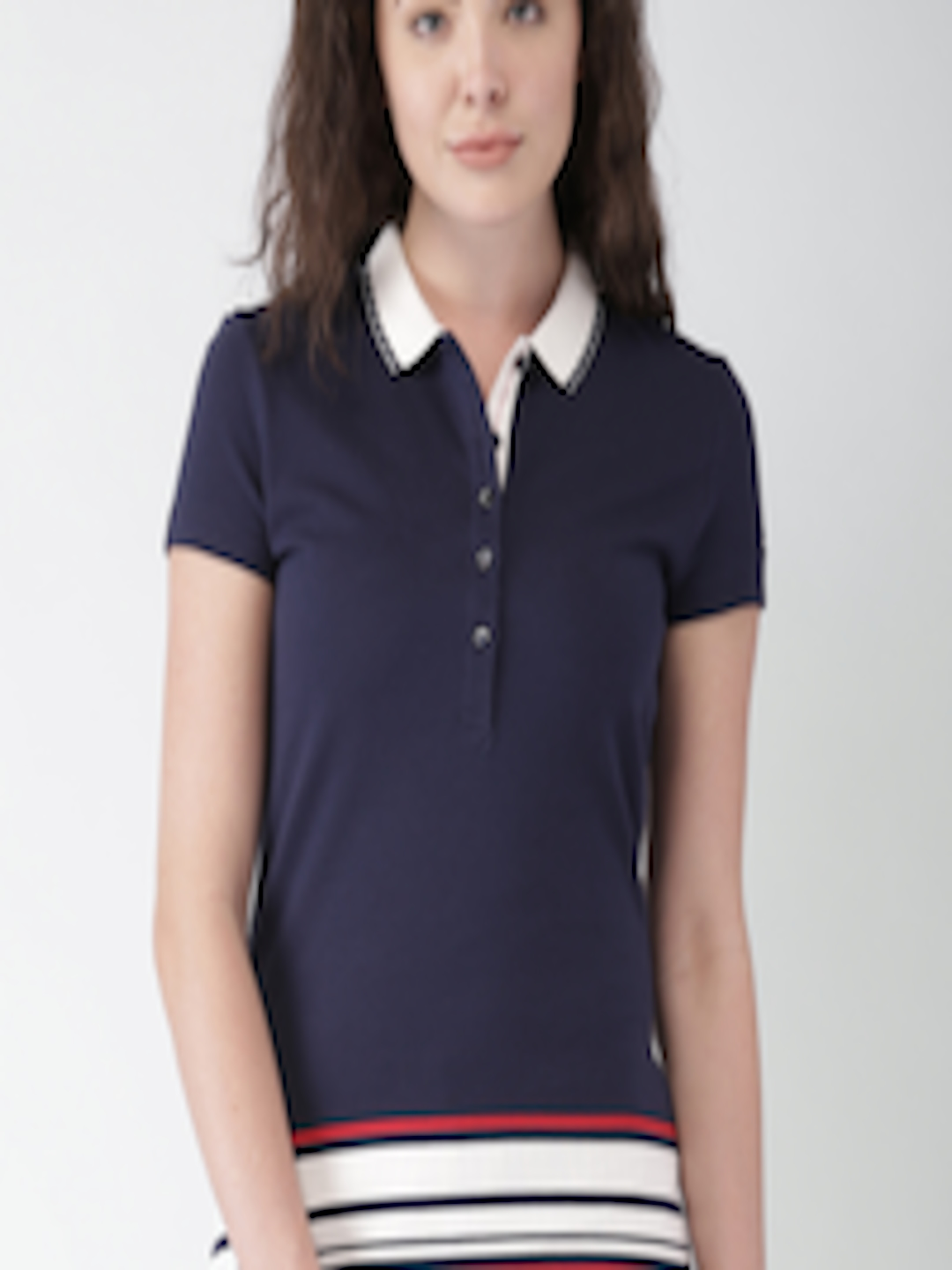 Buy Tommy Hilfiger Women Navy Polo T Shirt - Tshirts for ...
