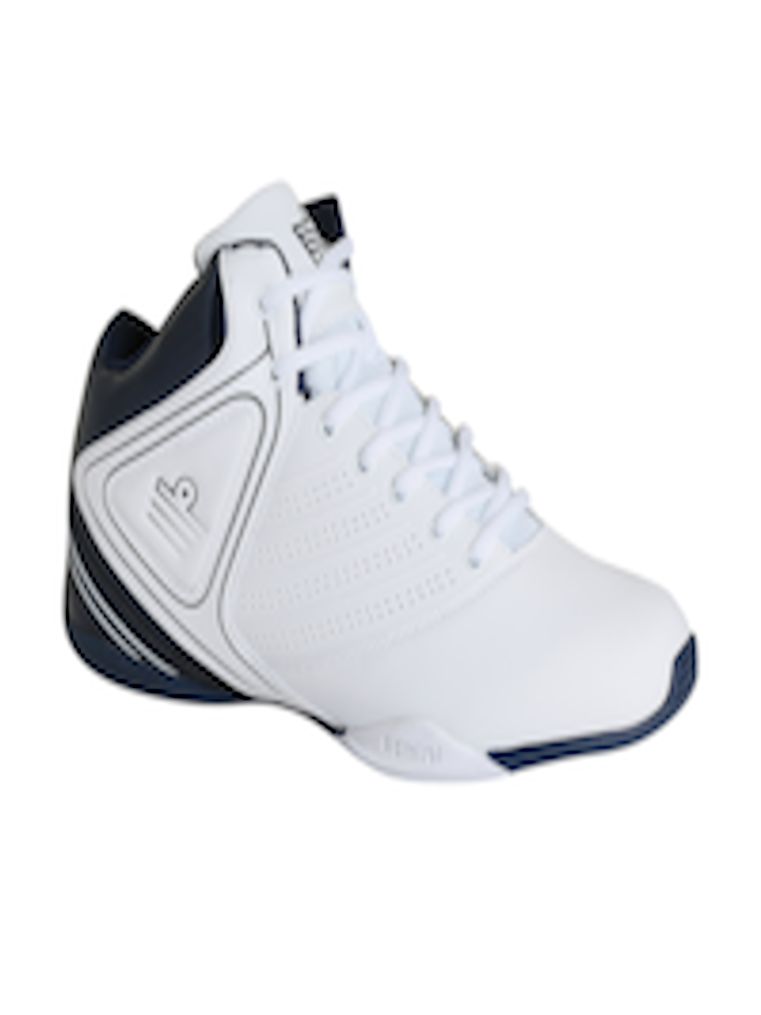 1e433e6bc33 Buy Admiral Men White   Navy Colourblocked Leather Dribbler Basketball Shoes  - Sports Shoes for Men 1875848