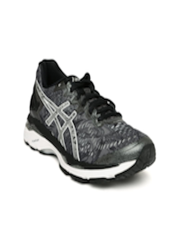 d0db8f92fe20 Buy ASICS Women Grey Printed GEL KAYANO 23 LITE SHOW Running Shoes ...