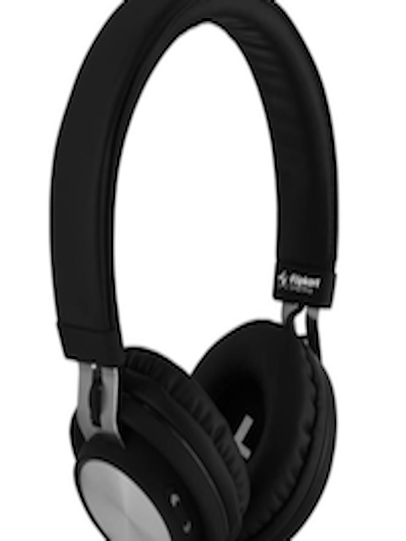 d00b7ac109e Buy Flipkart SmartBuy Black Wireless Bluetooth Headphones With Mic -  Headphones for Unisex 1951397 | Myntra