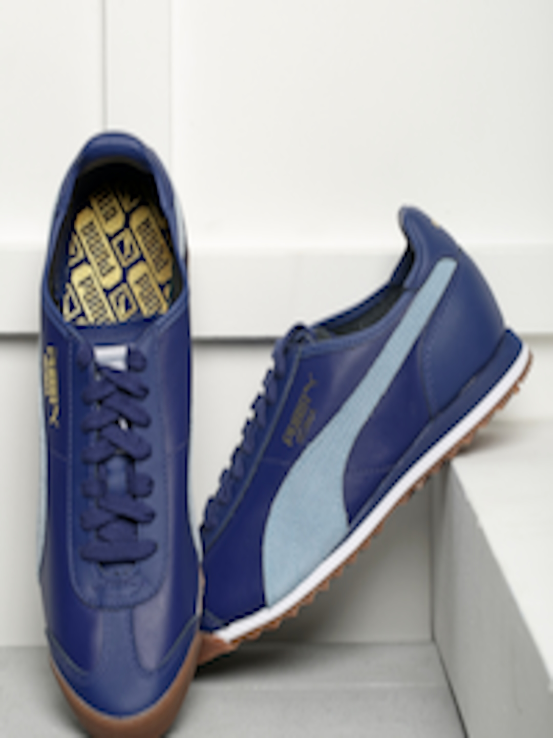 Buy Puma Men Blue Roma Og 80s Sneakers Casual Shoes For