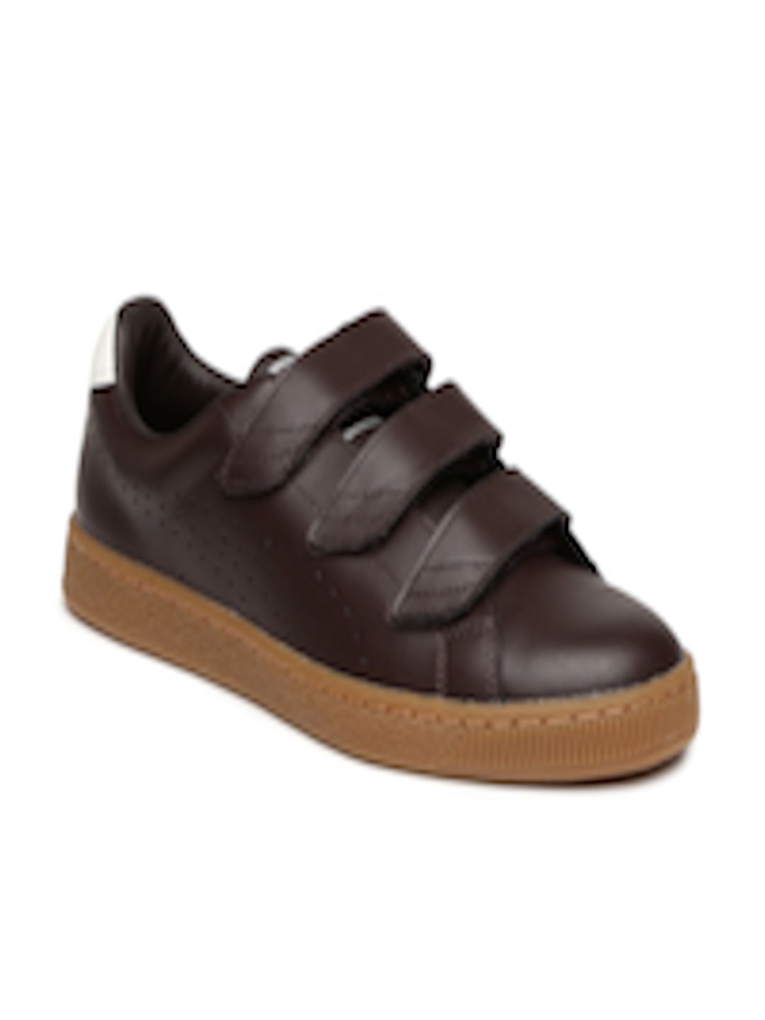 e20a4fc0226 Buy Puma Men Coffee Brown Basket Classic Strap CITI Leather Sneakers -  Casual Shoes for Men 1965714
