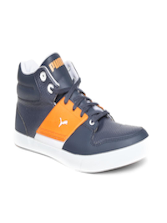 42a788ef73f7 Buy PUMA Men Navy   Orange El Ace 2 PN II DP Sneakers - Casual Shoes for Men  1966422