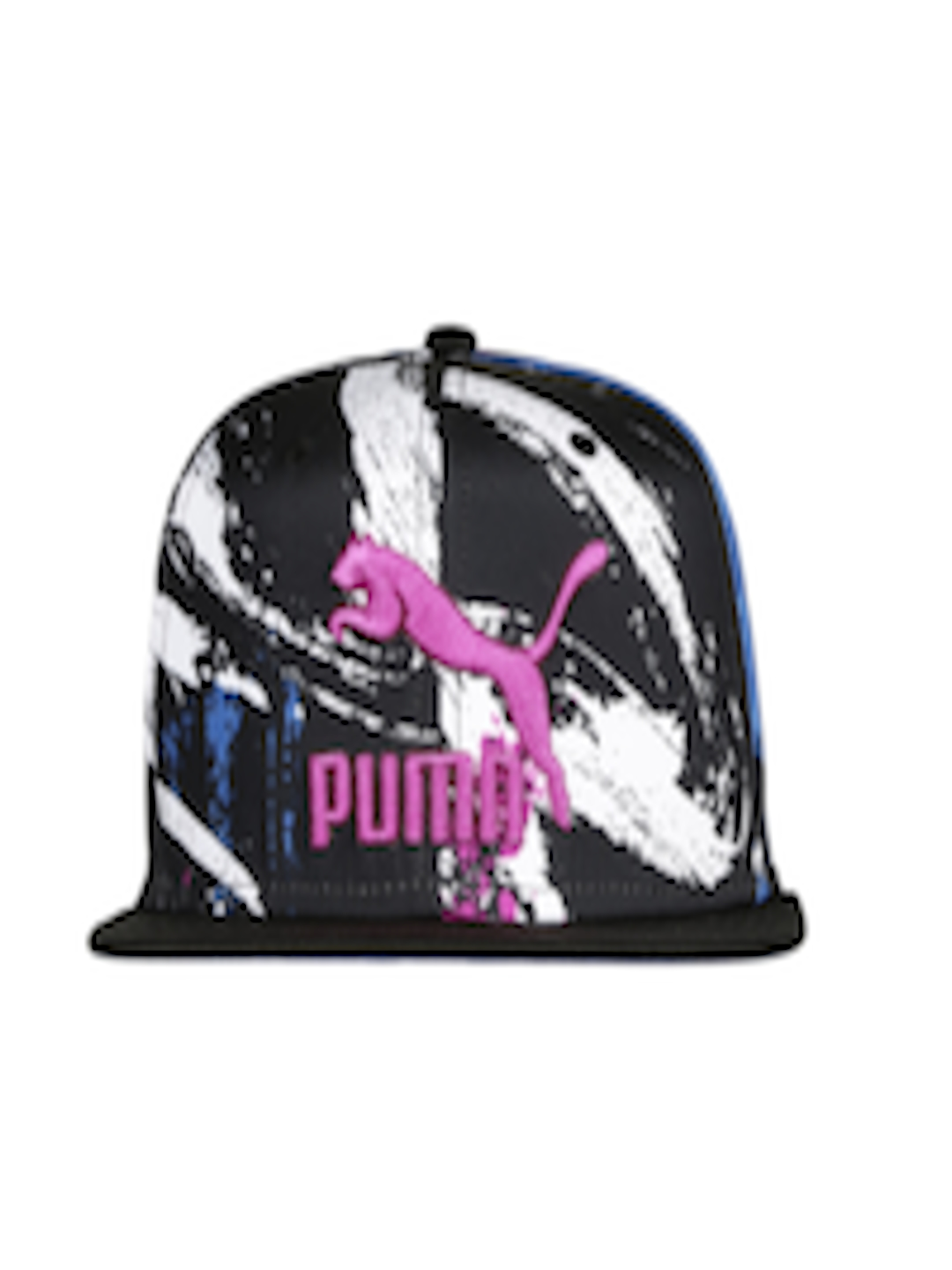 ec3a0a6744c Buy PUMA Unisex Black   White Printed LS ColourBlock SnapBack Cap - Caps  for Unisex 1971152