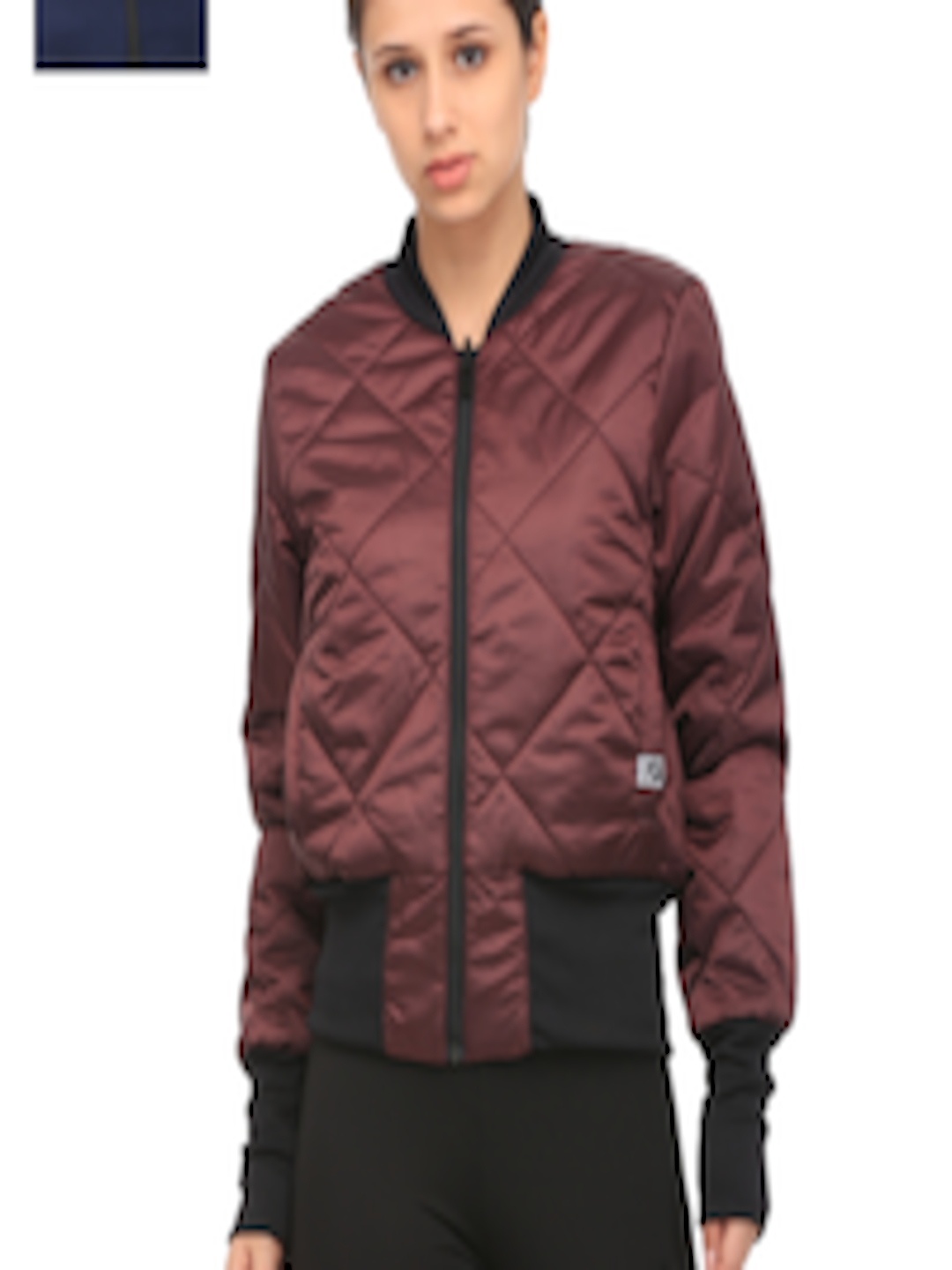 f65bbc2de78c Buy Puma Women Maroon   Navy Reversible Solid Padded Bomber Jacket - Jackets  for Women 1978491