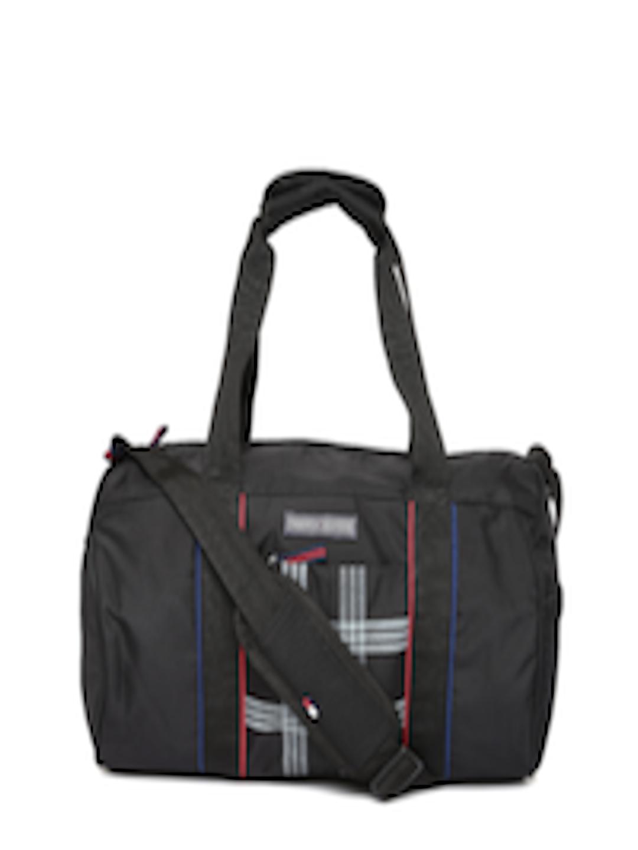 2042ee03e Buy Tommy Hilfiger Unisex Black Printed Duffel Bag - Duffel Bag for Unisex  1984426 | Myntra