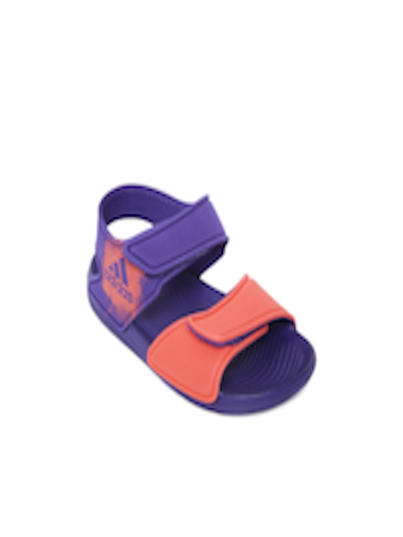 ffe58d9ce9c080 Buy ADIDAS Kids Coral Orange   Purple ALTASWIM C Sports Sandals - Sports Sandals  for Unisex 1989155