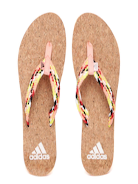 0f3b87189 Buy ADIDAS Women Peach Coloured   Brown Beach Cork Thong Flip Flops - Flip  Flops for Women 1989405