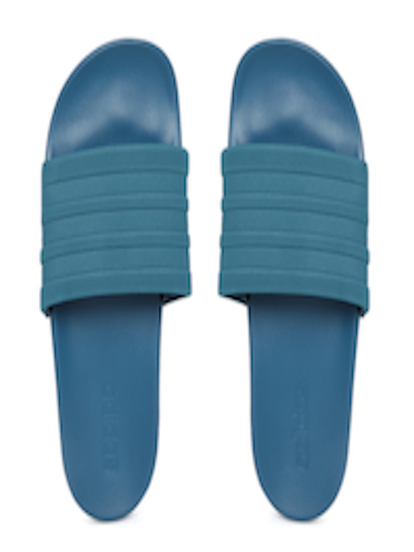eae795c7b694 Buy ADIDAS Men Teal Green   Teal Blue Adilette CF+ Mono Flip Flops - Flip  Flops for Men 1989470