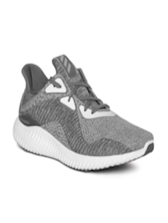 huge discount d2ef1 d944c ADIDAS Men Grey Alphabounce Haptic Print AMS Flock Print Running Shoes