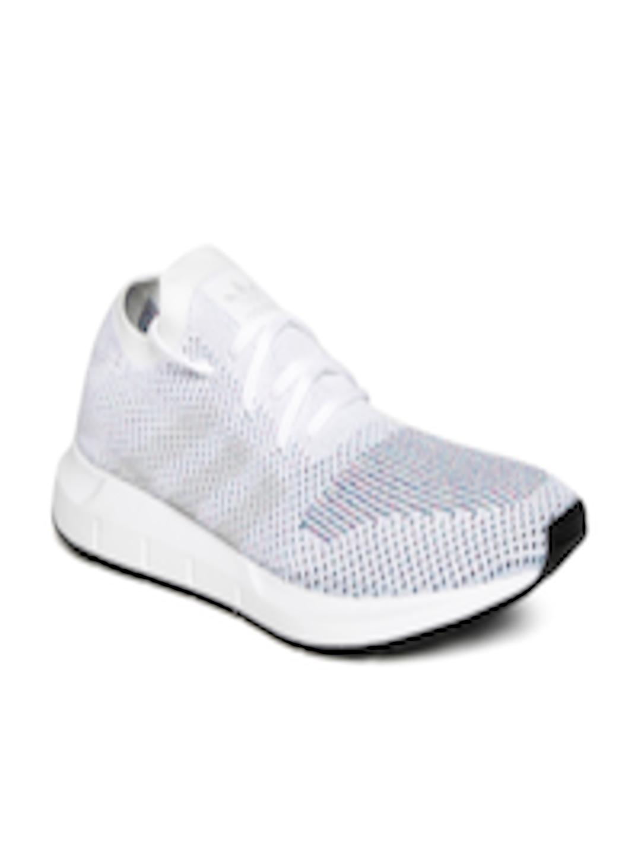 cce265e2e7f10 Buy ADIDAS Originals Men Off White Swift Run PrimeKnit Sneakers ...