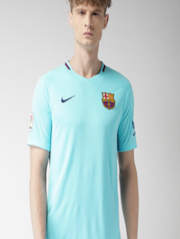 Buy Nike Men Sea Green Solid Fc Barcelona Stadium Away