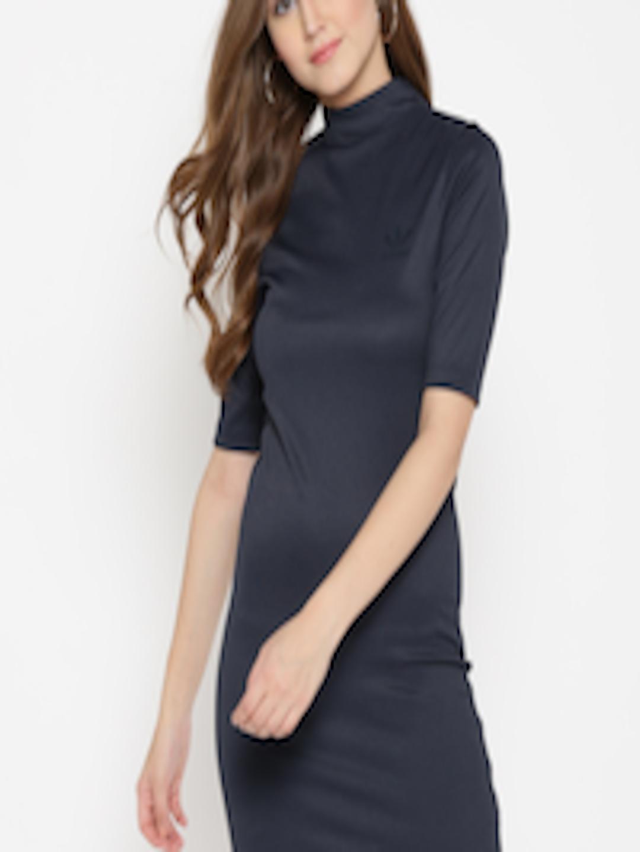 a03663cf5d4 Buy ADIDAS Originals Women Navy Blue Striped Sheath Dress - Dresses ...