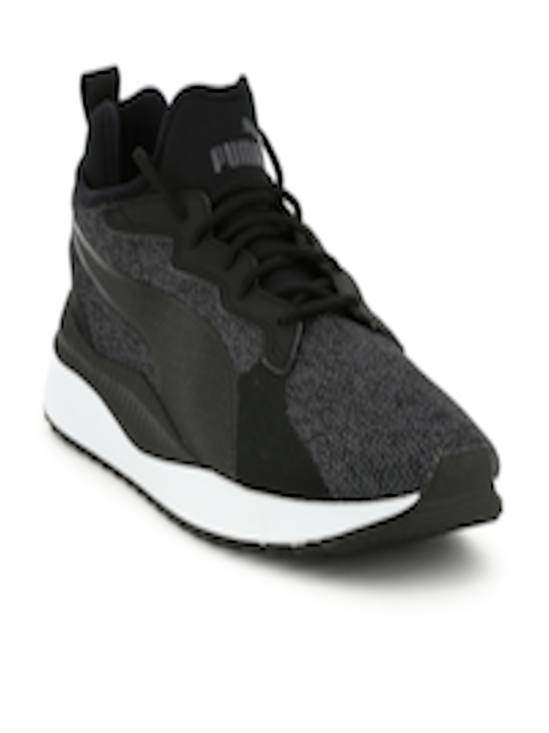 Buy Puma Men Charcoal Grey   Black Pacer Next Tw Knit Sneakers - Casual  Shoes for Men 2016449  5fe2b7a9a