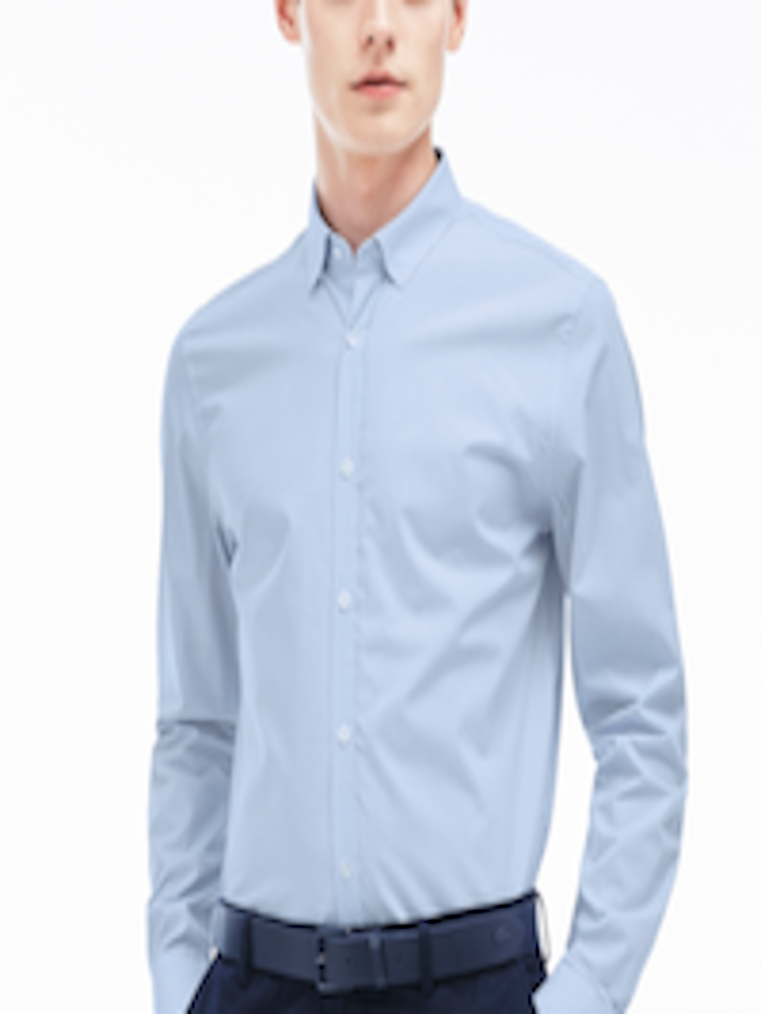 3202149814 Buy Lacoste Blue Slim Fit Checked Poplin Casual Shirt - - Apparel for Men