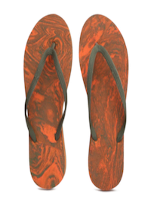 Buy Puma Women Olive Green  Orange First Flip Platform -7439