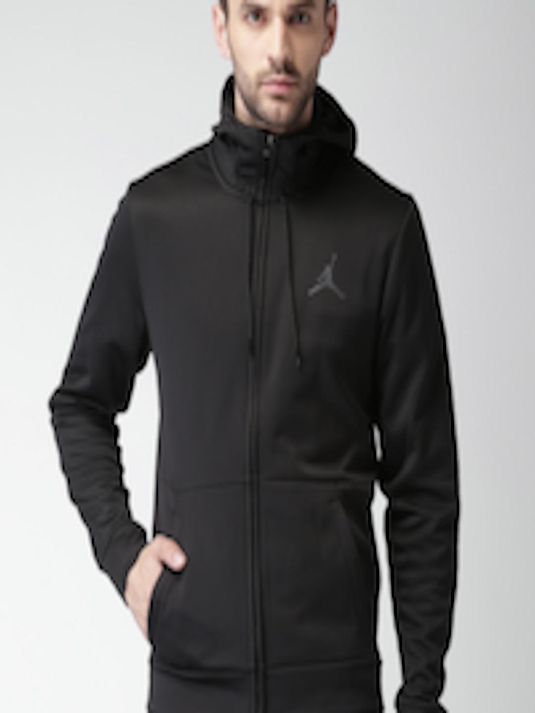 5a946ad36c2 Buy Nike Jordan Men Black Solid Hooded 23 ALPHA THERMA FZ Sweatshirt -  Sweatshirts for Men 2042131