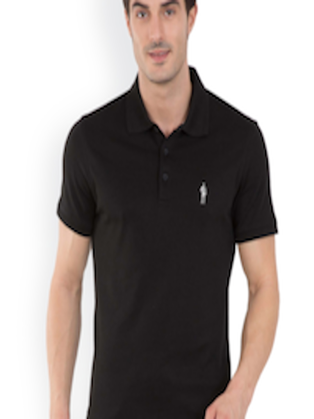 cb648e43 Buy Jockey Men Black Solid Polo Collar T Shirt - Tshirts for Men ...