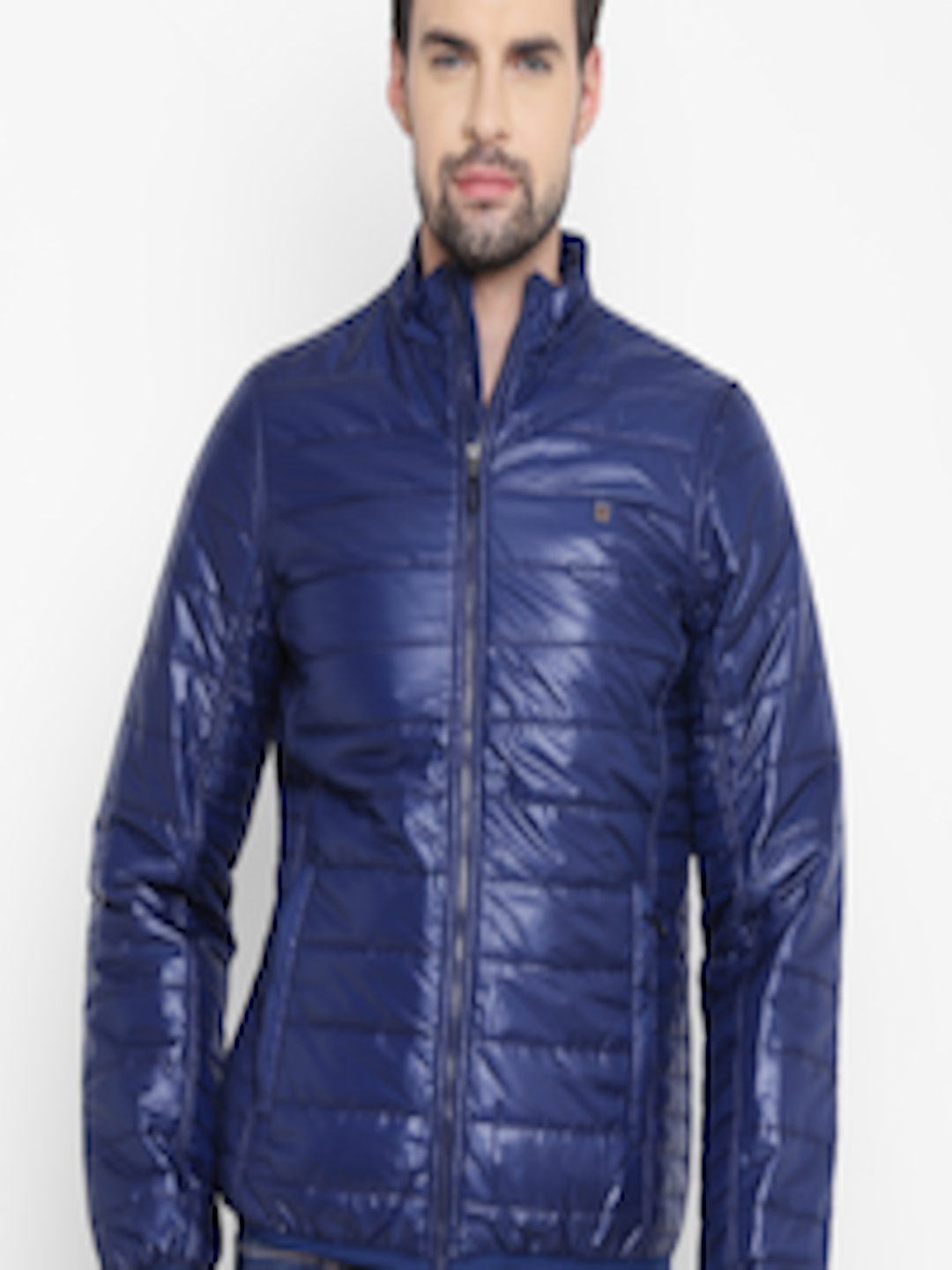 Buy Louis Philippe Sport Men Blue Solid Quilted Jacket ...