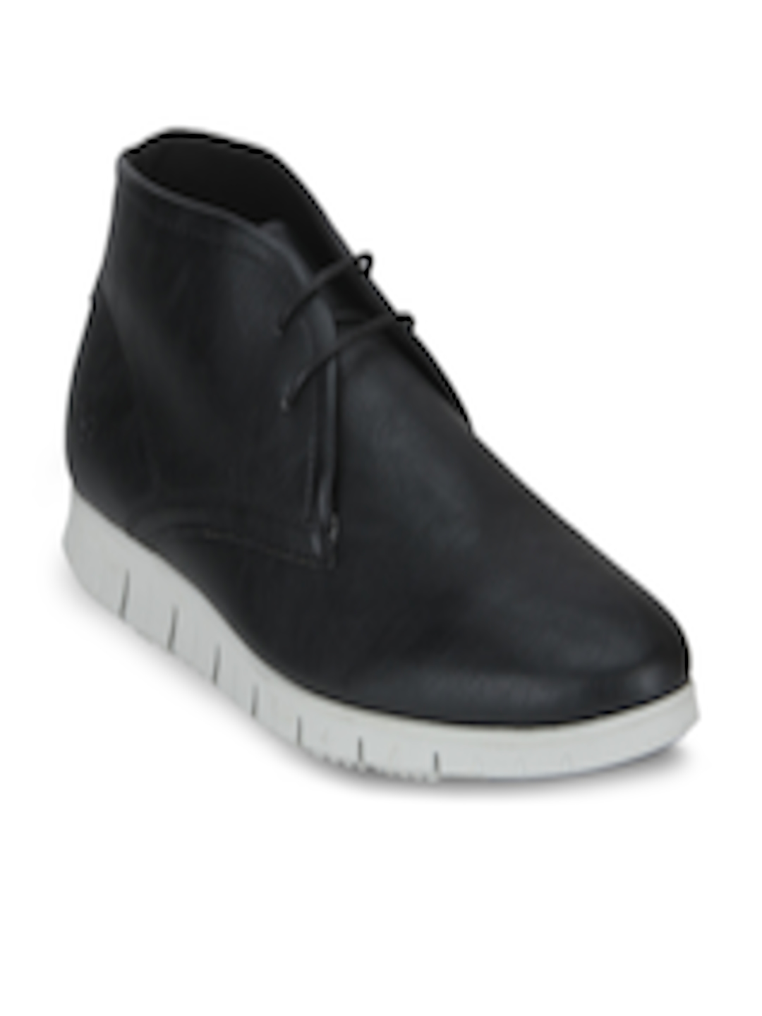 Buy Bond Street By Red Tape Men Black Solid Synthetic Mid