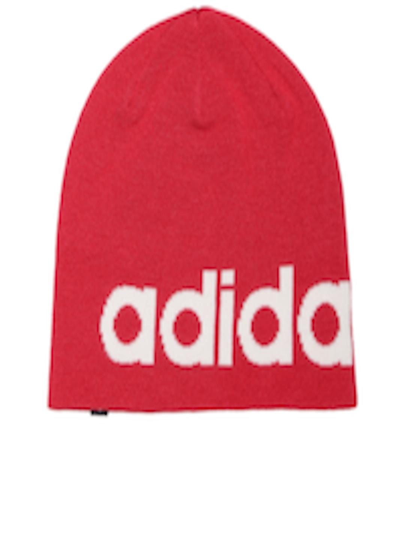 5bafe49ed63 ... czech buy adidas neo unisex red logo sd beanie caps for unisex 2061209  myntra 7fba1 d92d0