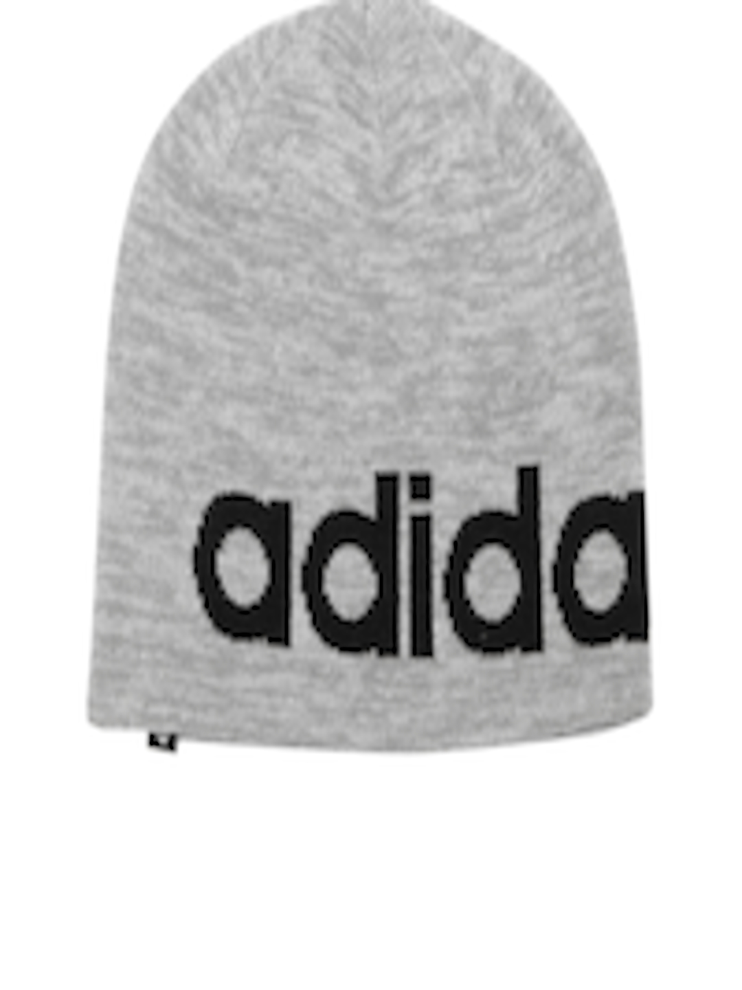 e36e09305ecff Buy ADIDAS NEO Men Grey Melange Logo Print Beanie - Caps for Men 2061218 |  Myntra