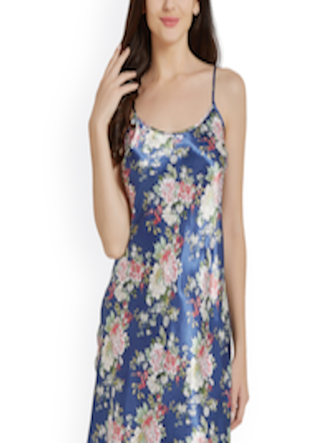 463e713f374 Buy Blush By PrettySecrets Blue Floral Print Chemise Nightdress  PS0717SCSE20 - Nightdress for Women 2081947