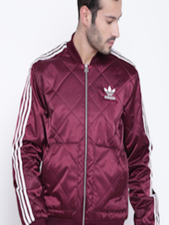 384c105637 Buy ADIDAS Originals Men Burgundy SuperStar PRE Solid Quilted Jacket - -  Apparel for Men