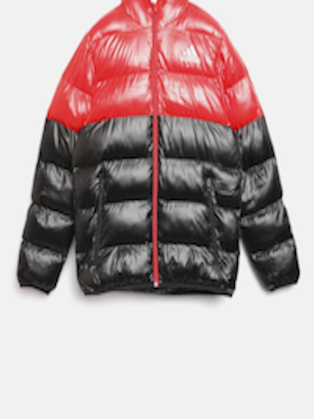 8db92a8b3 Buy ADIDAS Boys Red & Black YB SD BTS Colourblocked Hooded Puffer Jacket -  - Apparel for Boys