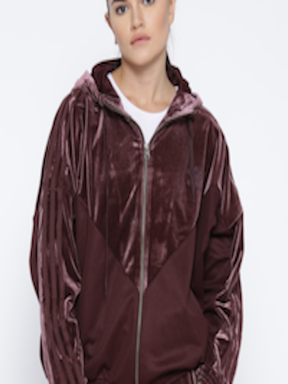 adidas burgundy bomber jacket