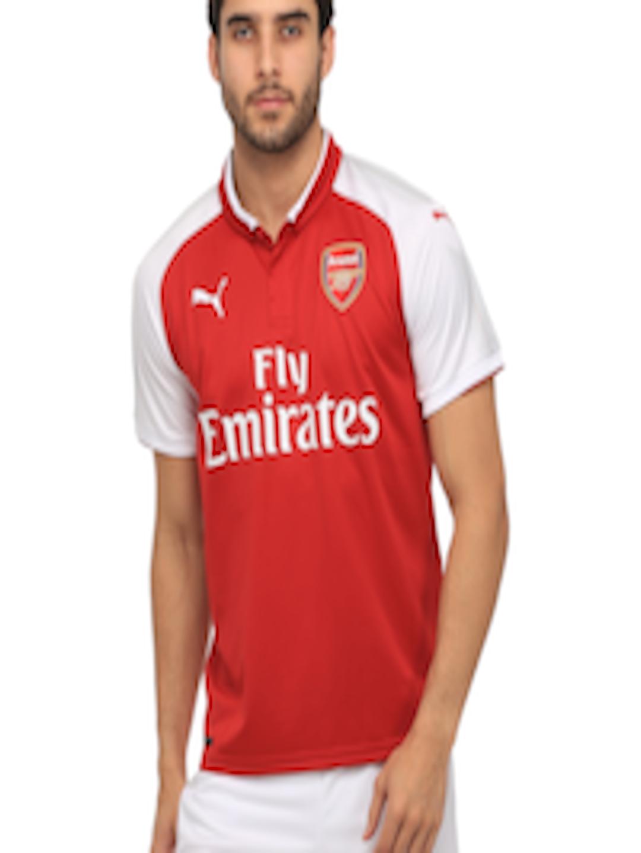235b50ad462 Buy Puma Men Red Arsenal F.C. Home Replica Printed Polo Collar T Shirt -  Tshirts for Men 2087612