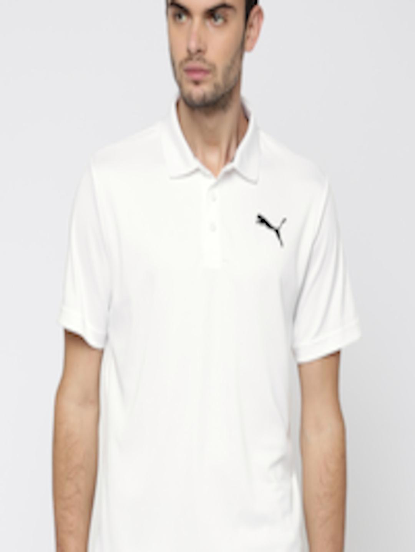 Buy Puma Men White Solid Active Pique Polo Collar T Shirt