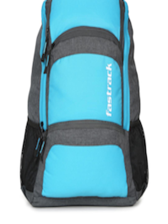 Buy Fastrack Men Blue & Grey Colourblocked Backpack ...