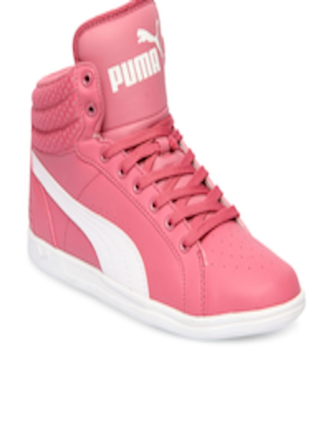 Buy Puma Girls Pink Ikaz Mid V2 Jr Mid Top Sneakers - Casual Shoes for Girls  2107958  b5d81cab9