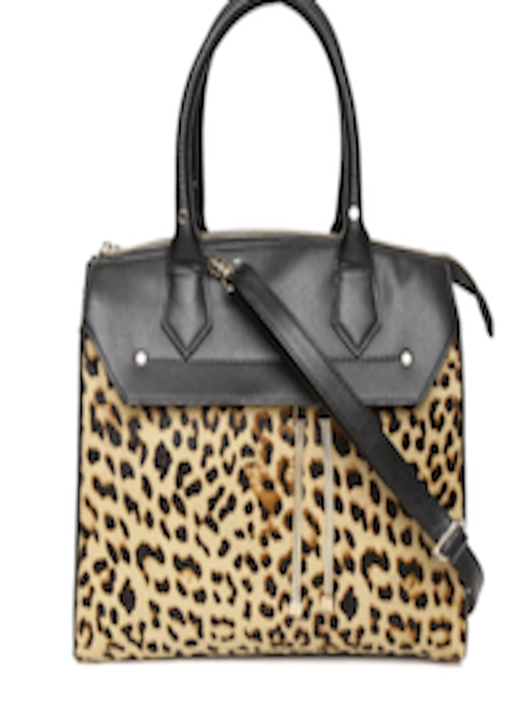 efa60a93ce1c Buy ALDO Beige & Black Animal Print Handheld Bag With Sling Strap - Handbags  for Women 2122619 | Myntra