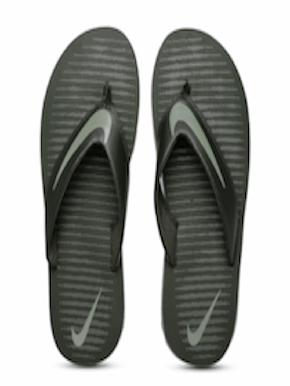 Buy Nike Men Olive Green Printed Chroma Thong 5 Flip Flops -5082