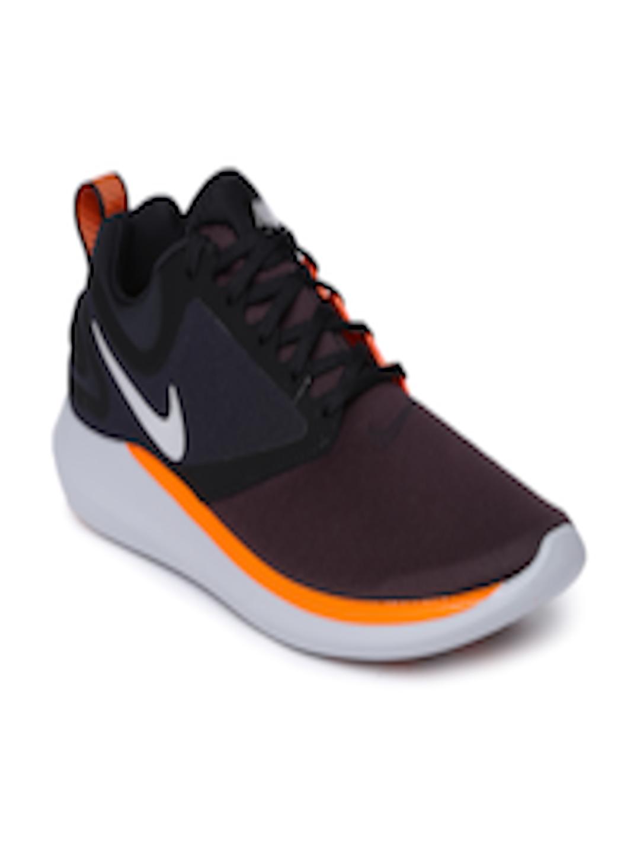 21800636f1c3 Buy Nike Men Purple   Orange Colourblocked LUNARSOLO Running Shoes - Sports  Shoes for Men 2147562