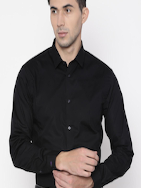 edc1e18202d Buy Arrow New York Men Black Snug Slim Fit Solid Formal Shirt ...