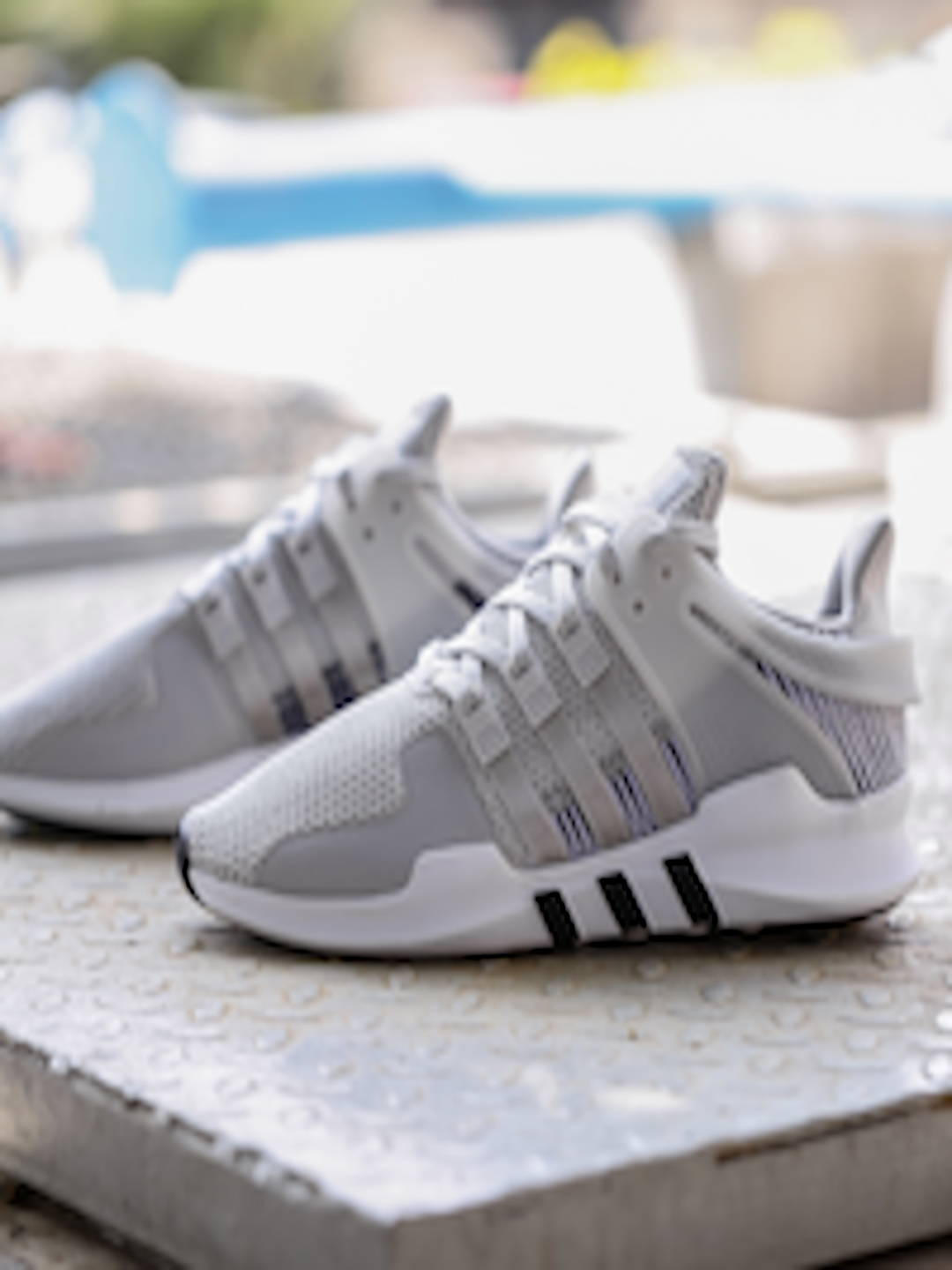 new concept dccfc 3c6f2 Buy ADIDAS Originals Men Grey & Off White EQT Support ADV Sneakers - -  Footwear for Men