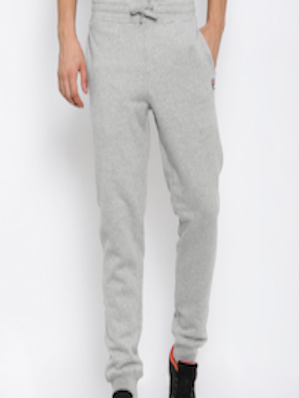 d2ede35393b25 Buy FILA Grey Melange VISCONTI Joggers - Track Pants for Men 2185181 |  Myntra