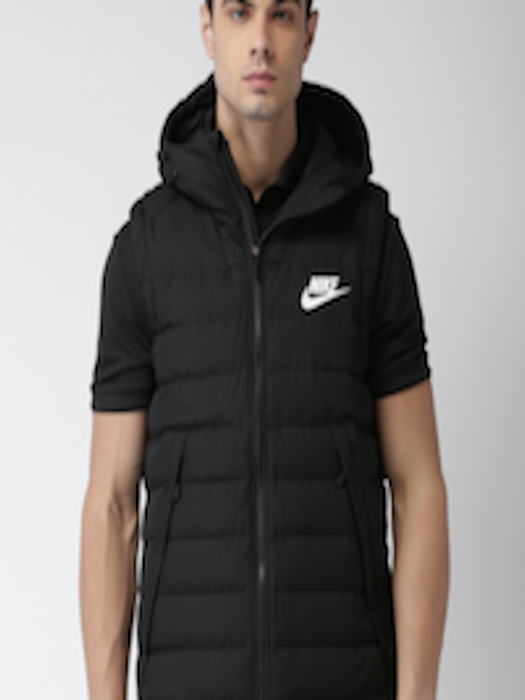 3f2a789ef Buy Nike Men Black Solid AS M NSW DOWN FILL Puffer Jacket - - Apparel for  Men