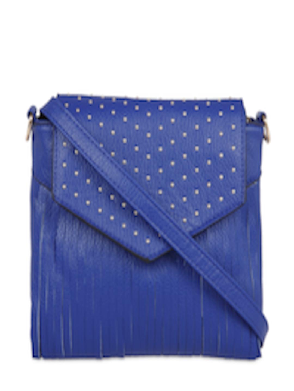 6b93eff088 Buy FUR JADEN Blue Solid Sling Bag - Handbags for Women 2190431