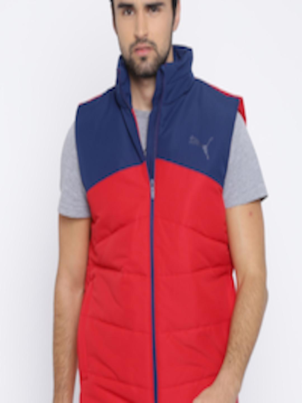 9ffa0397a815 Buy Puma Men Red   Blue Colourblocked ESS Padded Jacket - Jackets ...