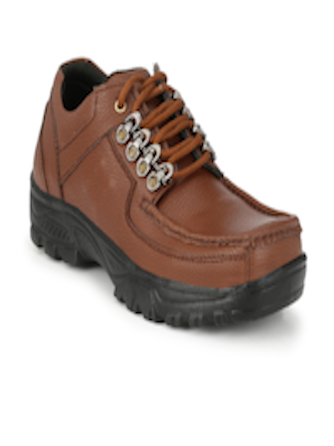 Buy AfroJack Men Brown Solid Synthetic Leather Mid Top ...