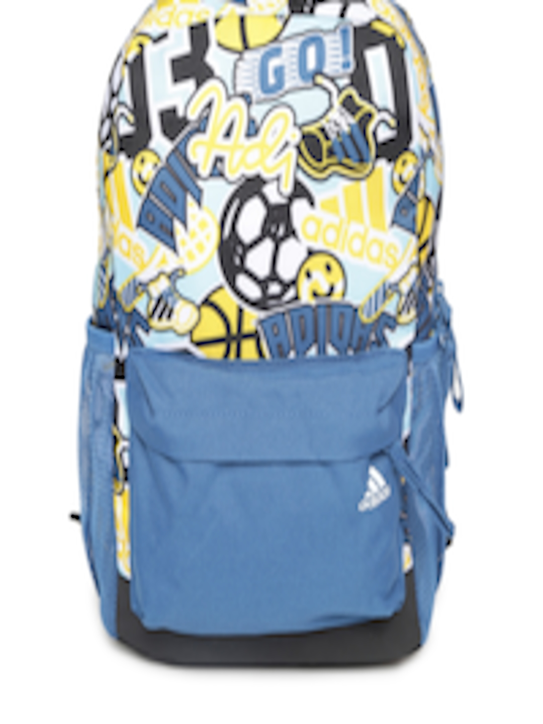 a9b8e4f45f71 Buy ADIDAS Kids Blue   Yellow LB GR BP Printed Backpack - Backpacks for Unisex  2236527