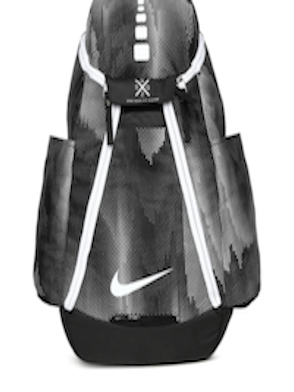 5846f1c44aee Buy Nike Unisex Black   White Brand Logo NK HPS ELT MAX AIR Backpack - Backpacks  for Unisex 2239408