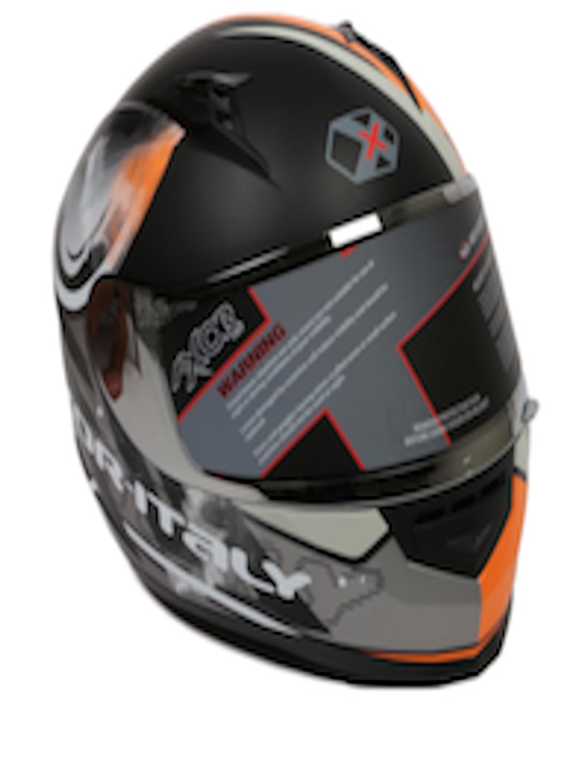 Buy Axor Men Black Amp Orange Fly Matte Printed Full Face