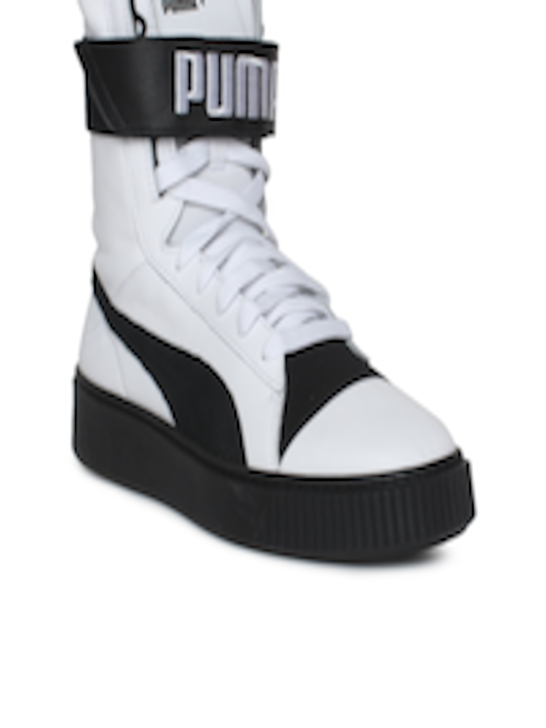 f71e9ecfa190 Buy Puma Women White Printed Synthetic Platform Boot High Top Sneakers -  Casual Shoes for Women 2268818